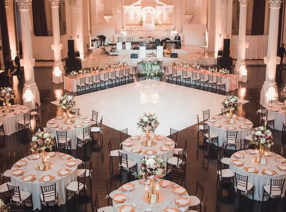 Elegant Vibiana Wedding Reception