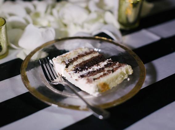 Chocolate and Vanilla Wedding Cake