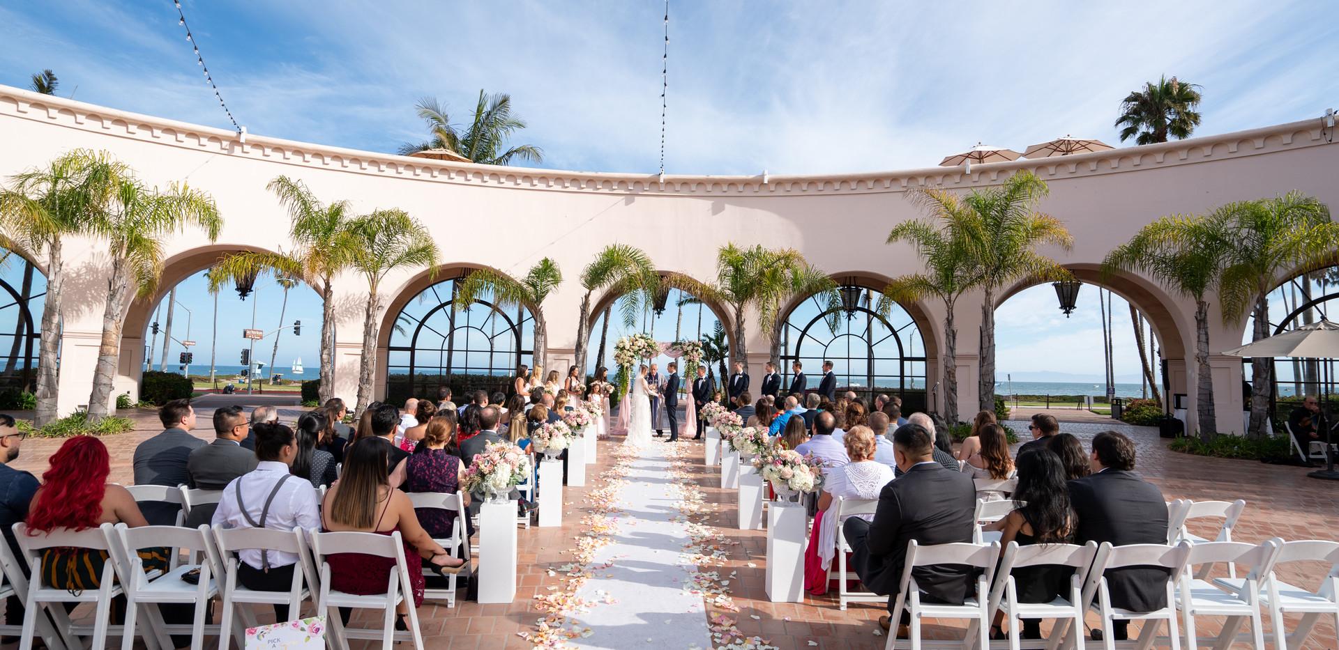 Hilton Santa Barbara Beach Front Resort Wedding Ceremony
