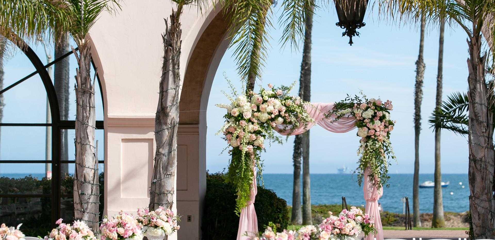 Santa Barbara Ocean Veiw Wedding Cereomony