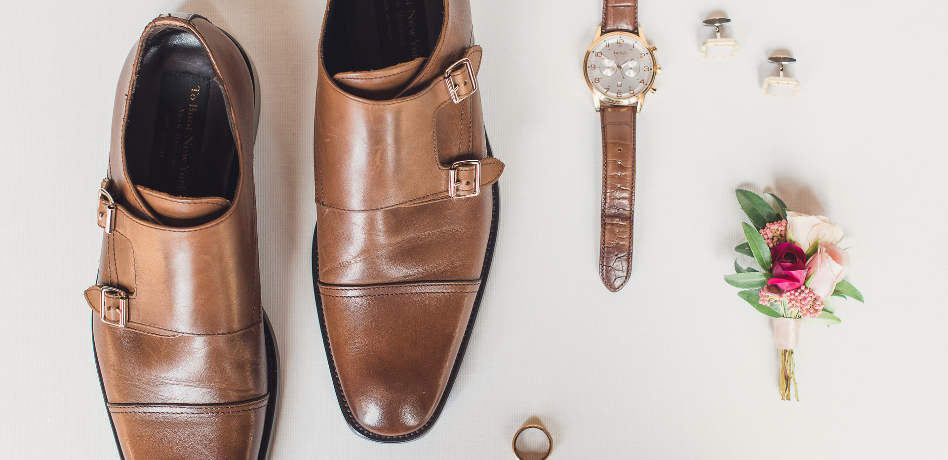 Groom's Classic Wedding Day Details