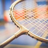 Badmintonschläger close up