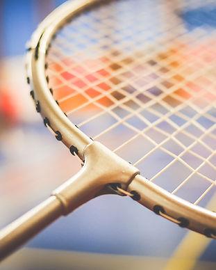 raquette de badminton de près