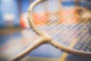 Badminton racchetta da vicino