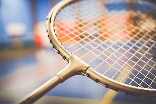 Raquete de badminton fechar-se
