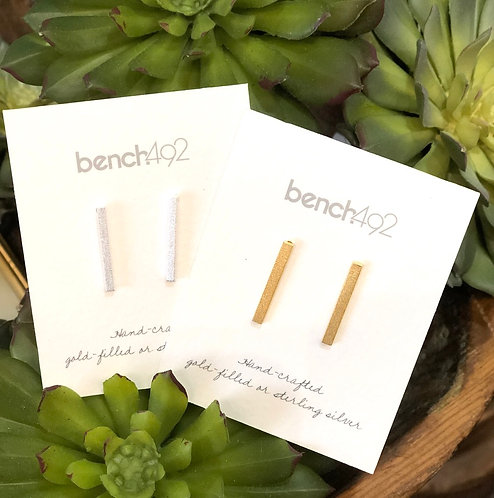 Silver or Gold Stick Earrings