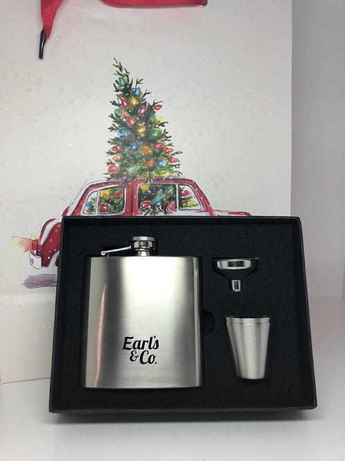 Earls & Co Lightweight Hip Flask Set