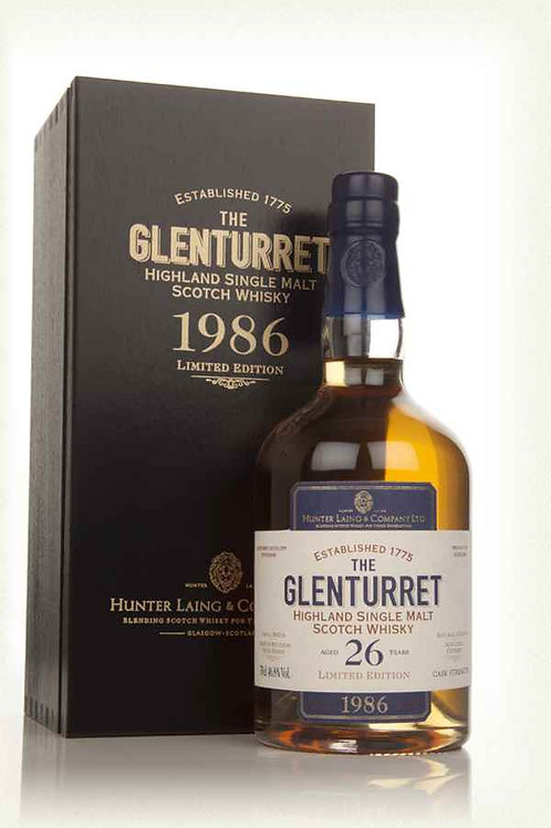 Glenturret 26 Year Old 1986 - Limited Edition (Hunter Laing) (70cl, 46.8%)