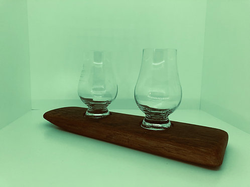 Oak Stave Tasting Station & Glasses
