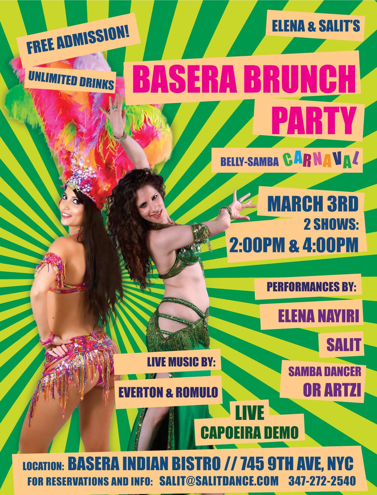 belly-samba event flyer
