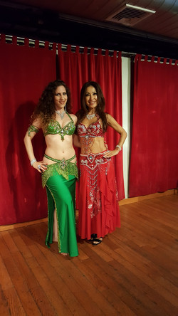 With student, Kyomi, after a show