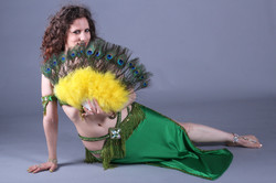 Bellydance with feather fan