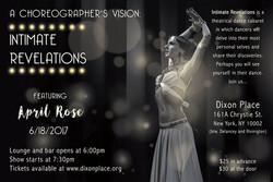 Intimate Revelations flyer
