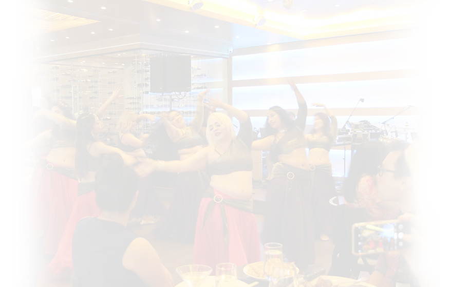 belly dancing students