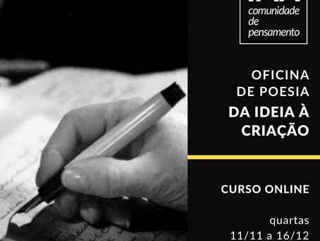 Oficina de poesia - Da ideia à criação