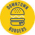 Downtown Burgers logo outlined fonts CMY