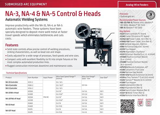 NA-3, NA-4 & NA-5 Control & Heads - Lincoln Electric