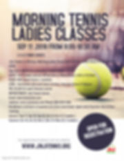 LADIES TENNIS DRILL AT ISSH STATING FROM