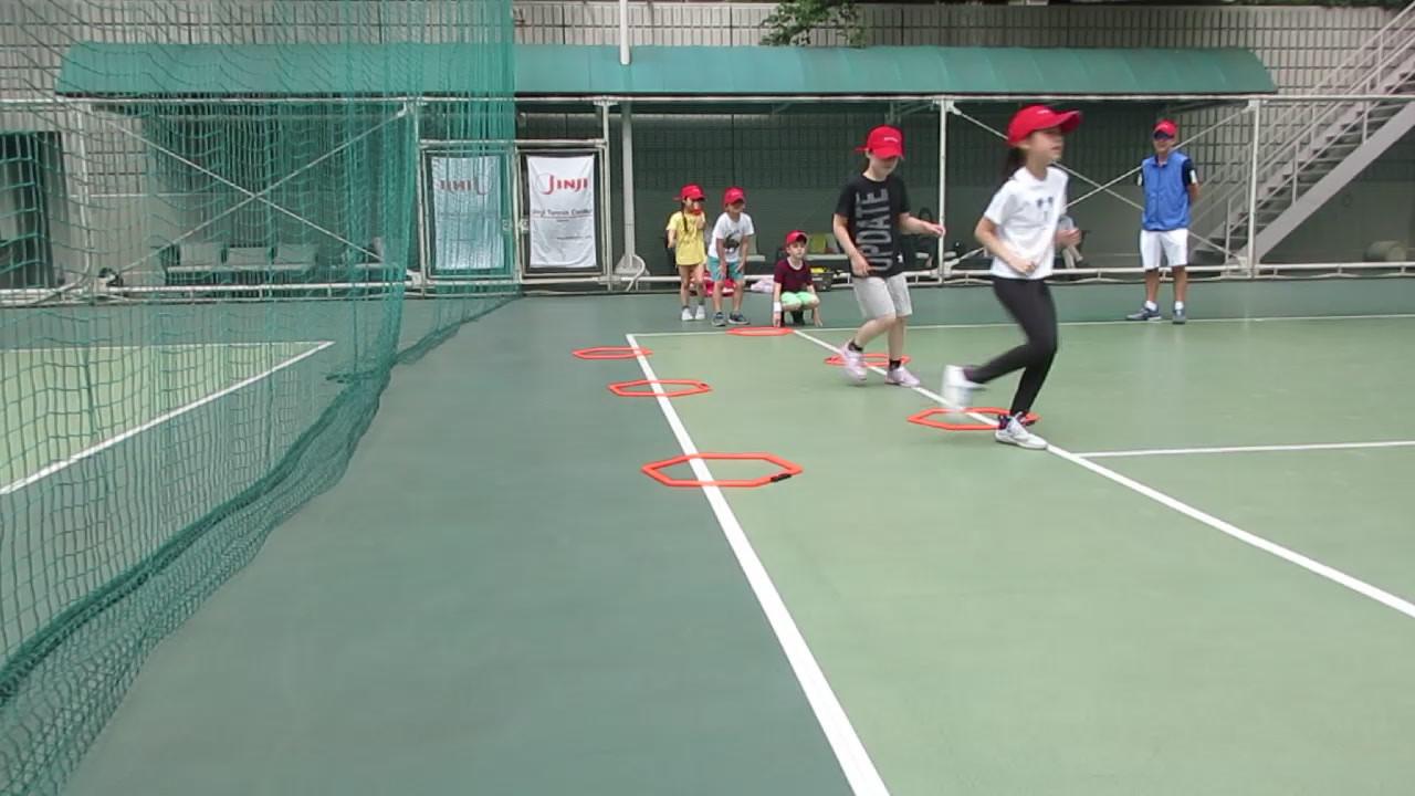 kids tennis training