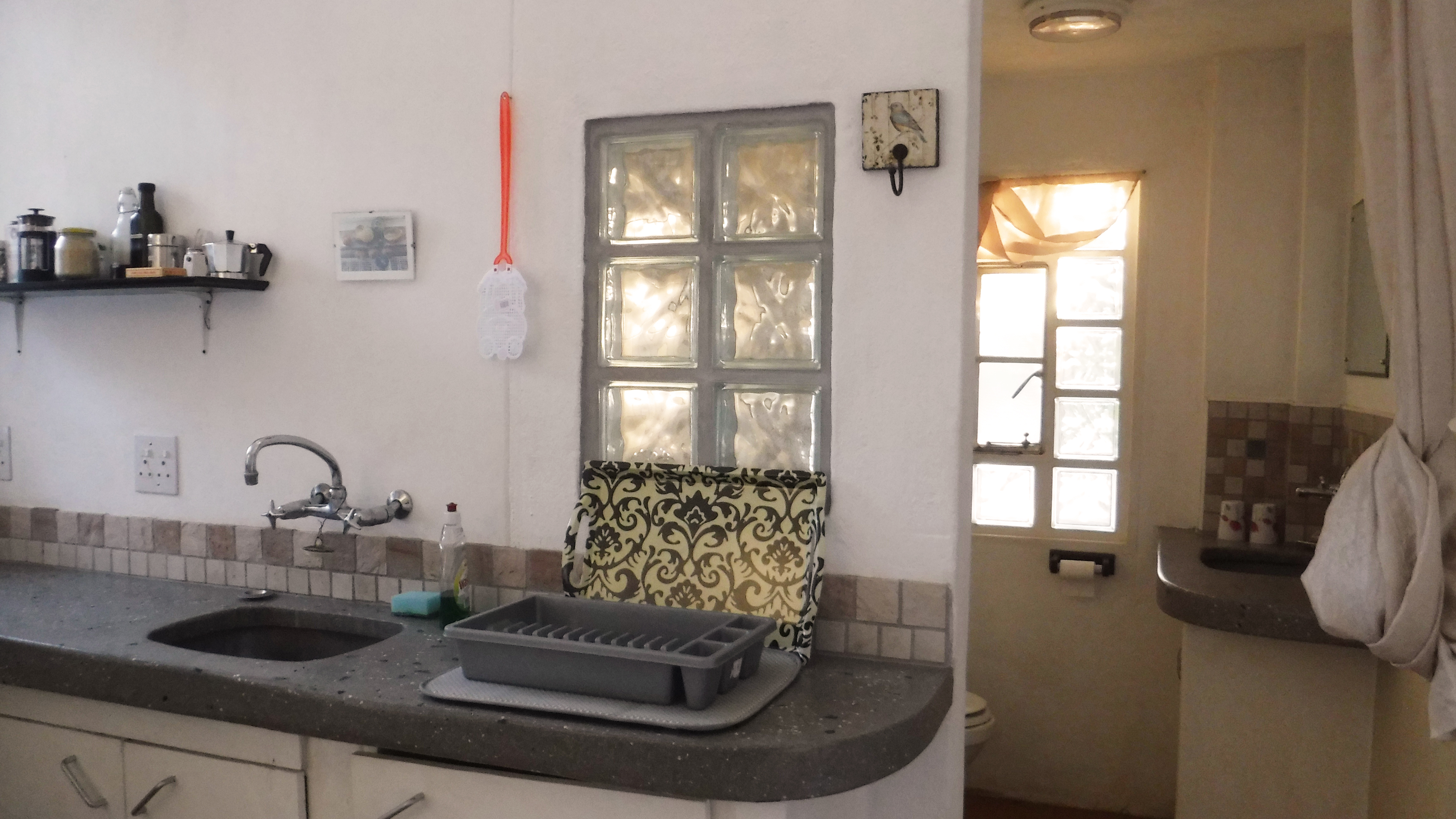 Kitchen and en-suite bathroom