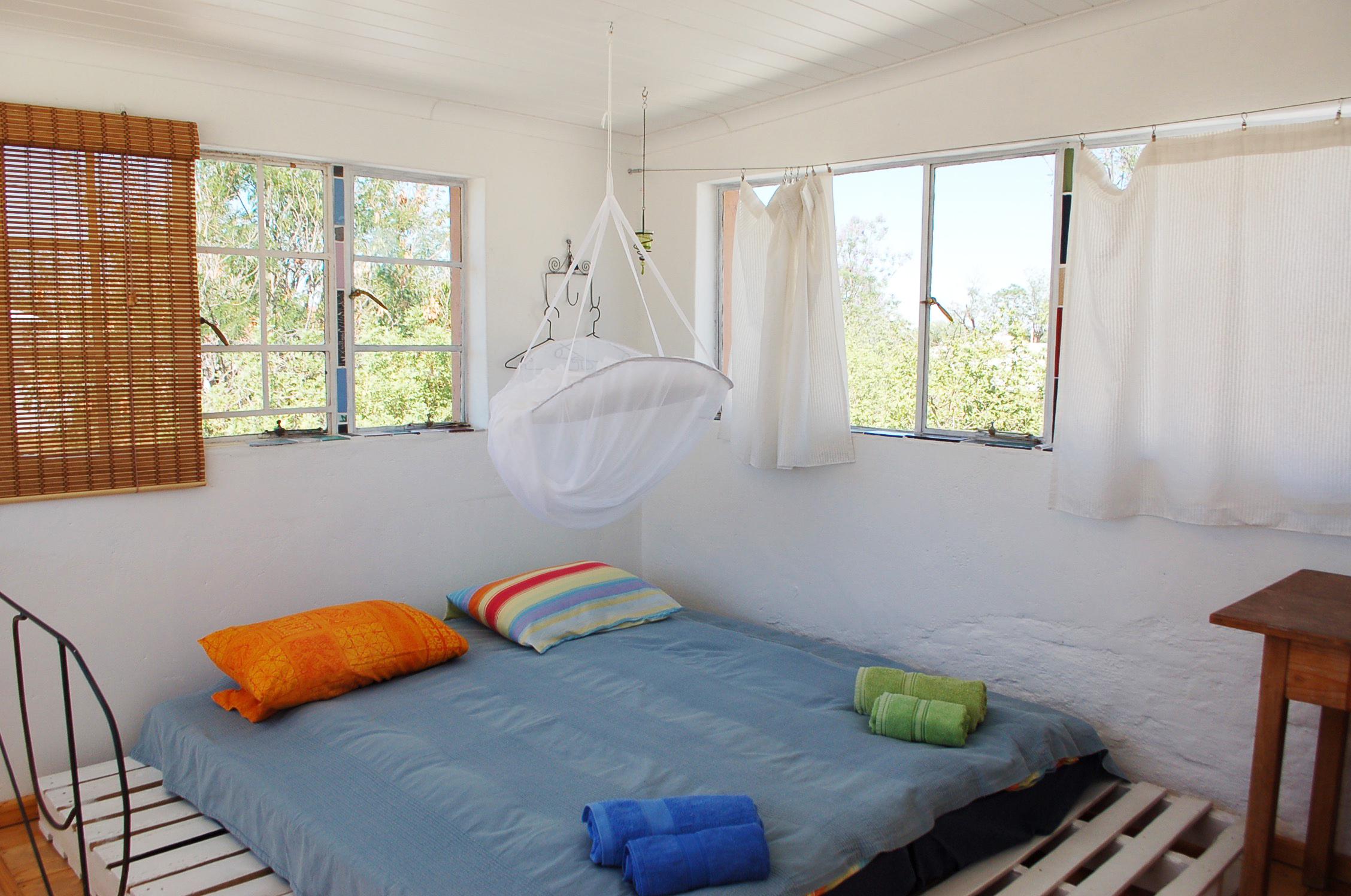 Double-bed in loft