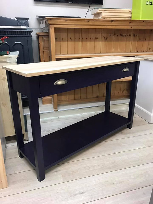 Console Table with Oak Top