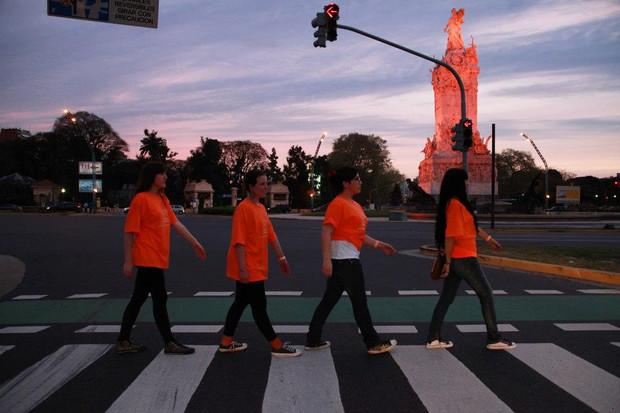Voluntarios Caminata