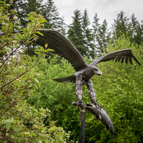 """""""Iron Eagle with Salmon"""" by Don Francis (20"""