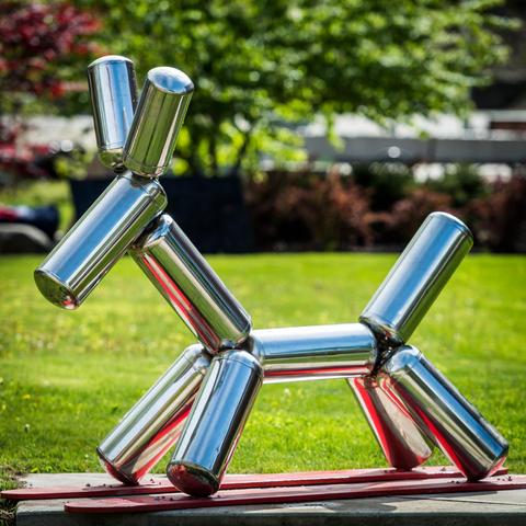 Silver Rocking Dog