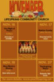 Copy of Upcoming Events Calendar - Novem