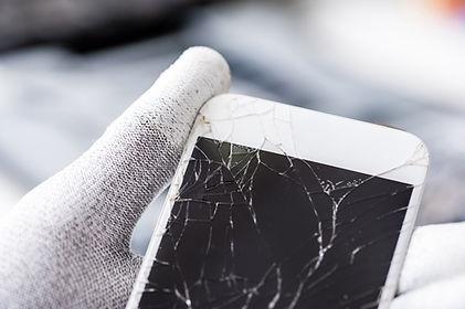 Technician with Broken Screen
