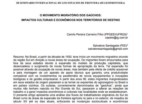 O movimento migratório dos gaúchos: impactos culturais e econômicos nos territórios de destino