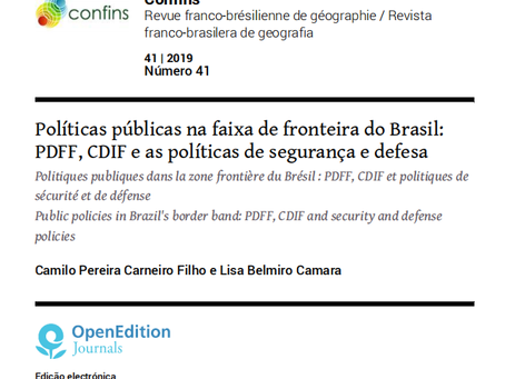 Políticas públicas na faixa de fronteira do Brasil: PDFF, CDIF e as políticas de segurança e defesa