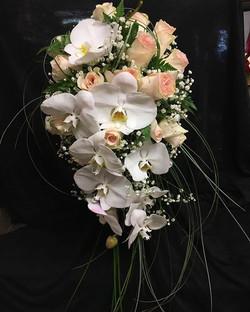 #wedding #bouquet #phalinopsis #orchid #roses #cascade #elegant