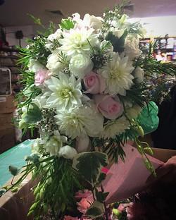 Cascading bridal bouquet #morningsideflorist #floral #bridalbouquet #wedding  #cascadebouquet
