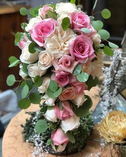 #cascade #wedding #bouquets #pink #blush