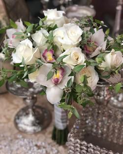 #Weddings #white #roses #cymbidiumorchid