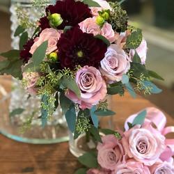 Bridal bouquet & brides maid posy