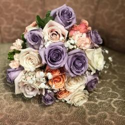 #lavender #peach #ivory  #bridal bouquet