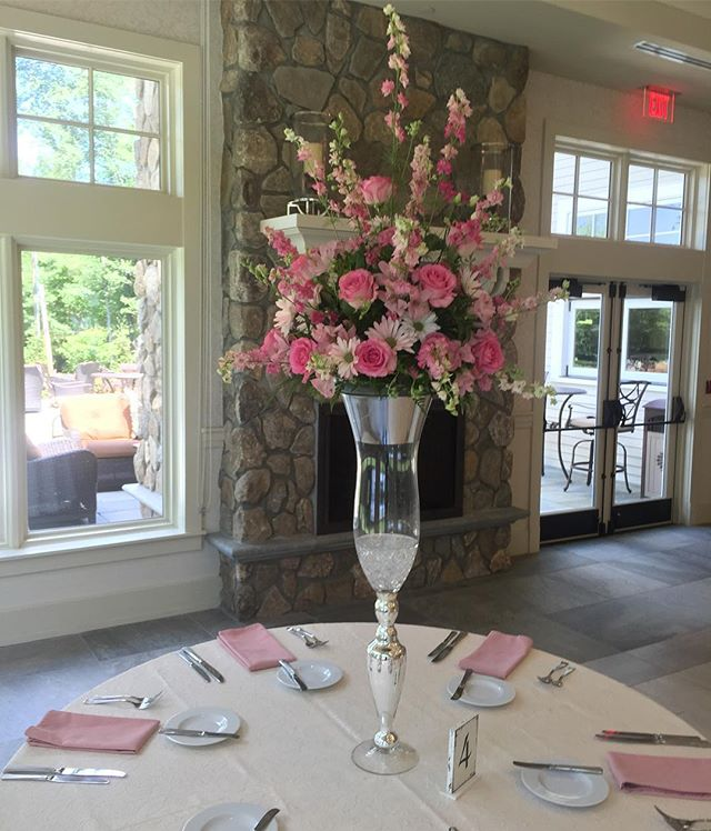 Our Wedding at the Indian Trail Club today #wedding #weddingcenterpieces #centerpieces #bridal #indi