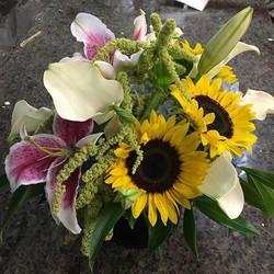 #Sunfloerss #callalilies #gardenflowers