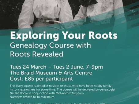 Exploring Your Roots Genealogy Evening Course