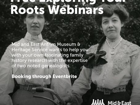 Exploring Your Roots - Free Webinars