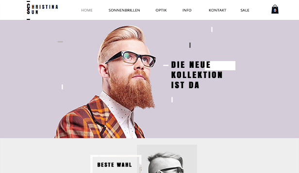 Online-Shop website templates – Brillenshop