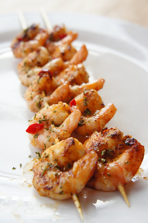 Raw Prawn Skewer's (x10)