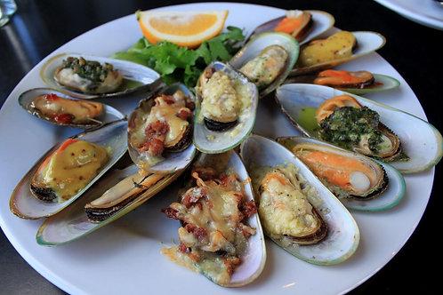 NZ Half-Shell Green Lip Mussels