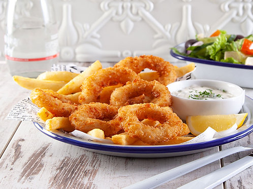 Squid Rings Hand-Cut Panko Coated  (4kg)