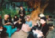 teaching cloistered nuns in Vardzia, Geo