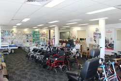 Brisbane Showroom with Wheelchairs