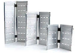 The Silver Star Ramps are folding aluminium ramps for wheelchair access